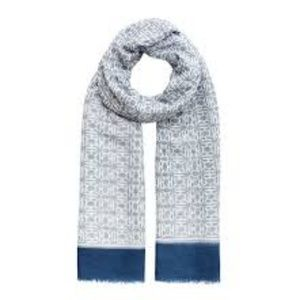 India Hicks  Heritage Scarf /Wrap in Cornwall Blue